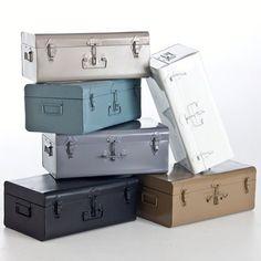 cantine métallique pour ranger les chaussures qui trainent ...en taupe, gris ou bleu gris