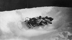 """Awesome Black and White Photos of the Early Days of Winter Olympics - weather.com Brits get the silver in 1936. Notice the """"uniforms"""" and no helmets"""