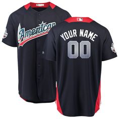 a28d67117e4 American League Majestic 2018 MLB All-Star Game Home Run Derby Custom Jersey  – Navy