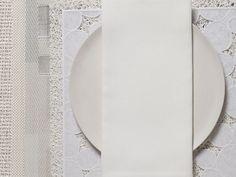 Square Linen Napkin in White Single