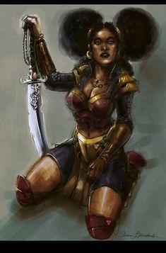 Liberty The Wonder (Of A black) Woman by DeonN