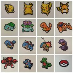 Just a small selection of the Pokemon we've made as perler sprites so far... so many left, I've gotta catch 'em all!