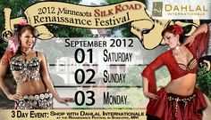 Huzzah for shopping with Dahlal Internationale during the Minnesota Renaissance Festival's Silk Road Weekend. Sept 1-3, 2012. Contact us to request your favorite items by emailing dahlal@dahlal.com or calling 1-800-745-6432.