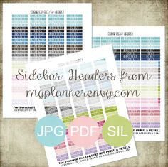 Free Printable Stackable Sidebar Headers from myplannerenvy.com