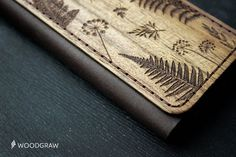 Botanic iPhone 6 Wallet Case Wooden Leather Wallet by WOODGRAWshop
