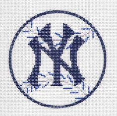 New-York-Yankee-Baseball-Sports-handpainted-Needlepoint-Canvas-Ornament-NYC