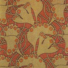 """Textiles of Fin-de-Siècle Vienna: Fragment """"Palm Leaf Textile"""", Koloman Moser, 1899 Motifs Textiles, Textile Fabrics, Textile Patterns, Textile Design, Fabric Design, Print Patterns, Pattern Design, Peyote Patterns, Textile Prints"""
