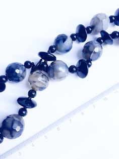 JP in Grey. Black Agate, Timeless Elegance, Statement Necklaces, Beautiful Necklaces, Close Up, Black And Grey, Beaded Bracelets, Deep, Elegant
