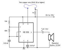 IC 555 alarm circuit homemade burglar alarm circuit you can do by your own.IC 555 timer using as astable multivibrator and it was used as a burglar alarm.
