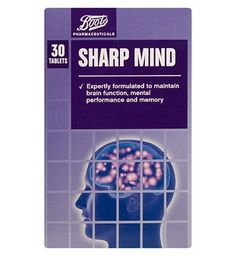 Boots Pharmaceuticals Boots Sharp Mind 30 tablets 10169493 28 Advantage card points. FREE Delivery on orders over 45 GBP. (Barcode EAN=5045091765662) http://www.MightGet.com/april-2017-1/boots-pharmaceuticals-boots-sharp-mind-30-tablets-10169493.asp