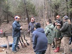 Instructing firearms safety at the shotgun range during a Hunter Education Course.