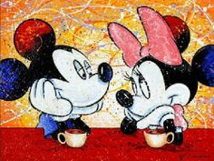 A tea time love moment between mickey & minnie. my favorite Mickey And Minnie Love, Mickey Mouse And Friends, Mickey Minnie Mouse, Disney Mickey, Disney Art, Disney Pixar, Walt Disney, Disney Characters, Daisy Duck