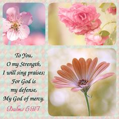 PSALM 59:17 17. You are my strength, I sing praise to you; you, God, are my fortress, my God on whom I can rely.