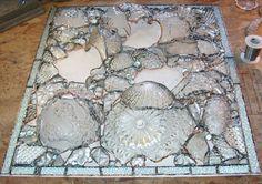 broken crystal dishes mosaic...Kent Sandy Larsen.earofthewind.com