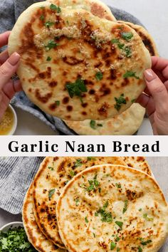 Garlic Naan Bread Recipe, Recipes With Naan Bread, Naan Bread Vegan, Butter Naan Recipe, Homemade Focaccia Bread, Bread Recipe Video, Snack Recipes, Cooking Recipes, Food Goals