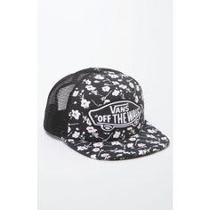 Vans Beach Girl Trucker Hat ($20) ❤ liked on Polyvore featuring accessories, hats, beach trucker hat, mesh back hats, truck caps, snap hat and floral trucker hat