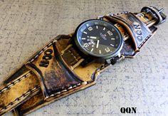 Brazalete brazalete de reloj reloj de los por CuckooNestArtStudio
