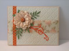 Hand made card . Peach, Cream & Orange. Pick an Occasion.