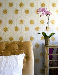 honeycomb wall paint job