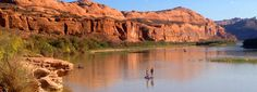 Paddle Boarding on the Colorado River near Moab, Utah