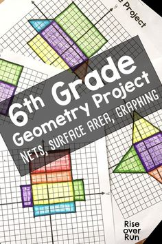 Grade Geometry Project with Nets and Surface Area Teaching Geometry, Geometry Activities, Fun Math Activities, Teaching Math, Math Resources, Teaching Ideas, Math Teacher, Math Games, Teacher Stuff