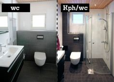 Tumma lattia | Laattapiste Kylpyhuoneet .
