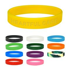 Our silicone wristbands are perfect for fundraising events. We offer a wide variety of colors for your to personalize.