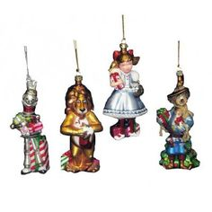 Adorable Wizard of Oz ornament collection -- would be a fantastic gift for a little one or anyone who loves the classic movie!