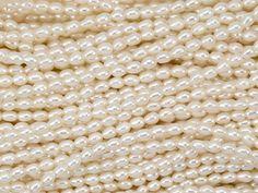 White Rice Freshwater Pearl Strand