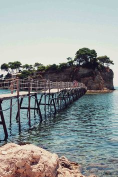 A bridge to Cameo island, Zakynthos, Greece The 23 best Greek islands to visit Greek Islands To Visit, Best Greek Islands, Greece Islands, Cool Places To Visit, Places To Go, Travel Around The World, Around The Worlds, Zakynthos Greece, Greece Honeymoon