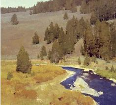 T. Allen Lawson, plein air prodigy from Sheridan, Wyoming. Fording the Stream, Oil on linen, 22 x 24 inches    www.westernartandarchitecture.com