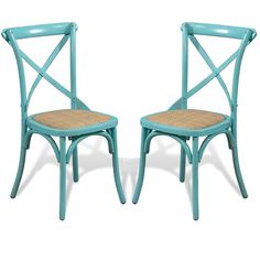 Parisian Cafe Chairs (available in counter & bar height) - Boca Blue (multiple finishes/colors available) | BelleEscape.com