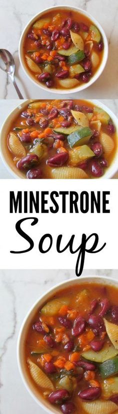 Homemade minestrone soup recipe (low sodium, vegan, GF) diet … – My CMS Low Carb Soup Recipes, Heart Healthy Recipes, New Recipes, Vegan Recipes, Chili Recipes, Amazing Recipes, Healthy Choices, Easy Recipes, Favorite Recipes