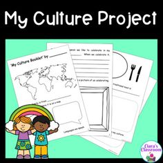 My Culture Project for Social Studies and Multicultural Classrooms Diversity In The Classroom, Multicultural Classroom, Primary School Teacher, Teacher Pay Teachers, Cultural Diversity, Printable Worksheets, Social Studies, Booklet, Fun Facts