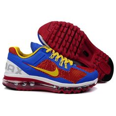 ba277025ef06 Find Mens Nike 2013 Yellow Blue White Red Air Max Trainers online or in  Curryshoes. Shop Top Brands and the latest styles Mens Nike 2013 Yellow Blue  White ...