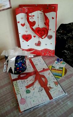 Sending a diy gift miles away filled with love