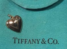 Tiffany & Co. 14k solid gold Locket Heart Photo pendant for necklace charm vtg  | eBay