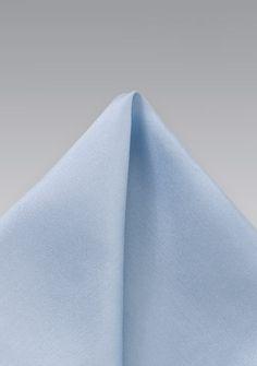 Einstecktuch Seide hellblau