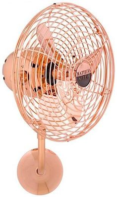 The Michelle Parede is a beautiful quality antique style wall fan. The 13 blades can be positioned vertically and horizontally across 180 degree arcs for optimal air movement. It is great for use in t