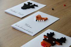DIY Weihnachtskarten mit Bügelperlen - Stilechtes
