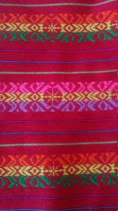Colorful Fabric supply  This fabric is called Cambaya and is made in pedal looms.  Fabric made in Mexico from soft acrylic with colorful geometric details. The colors are fantastic and the weave in the fabric give it the distinct mexican flair.  This soft fabric can be used for home decor, clothing, accessories and crafts.  **Please: Select One fabric design choosing the background color in the options.  Measurement: You can select 1 yard of your favorite design in listing options Wide: 31…