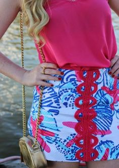 Lilly Pulitzer Tate Skirt in She She Shells