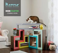 Katris Modular Cat Scratching System Now Available with New Covers