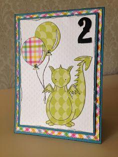 Randis hobbyverden: Barnekort med drage og siffer