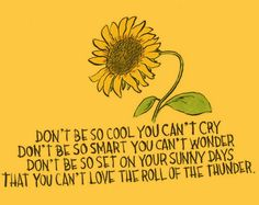 rules of a good life // words quotes inspiring sunflower illustration