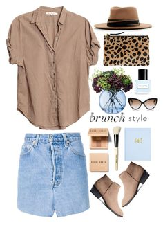 """Brunch Style"" by mplusk ❤ liked on Polyvore featuring Xirena, Vetements, Bobbi Brown Cosmetics, LSA International, Clare V., Cutler and Gross, MAISON MICHEL PARIS and Marc Jacobs"