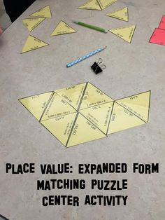 Engaging place value expanded form activity for math centers. My students cheer… 5th Grade Math Games, Fifth Grade Math, Fourth Grade, Second Grade, Math Place Value, Place Values, Math Resources, Math Activities, Expanded Form