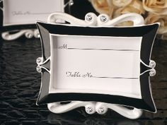 Elegance black and white epoxy photo frame favor
