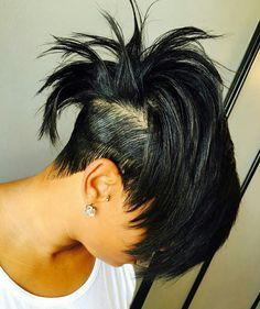 """Hair By Reggie .Are you ready to """"Join The Movement""""? Short Sassy Hair, Short Hair Cuts, Short Hair Styles, Mohawk Styles, Short Pixie, Dope Hairstyles, Hairstyles For Round Faces, Mixed Hairstyles, Black Hairstyles"""