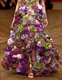 WOULD LOVE TO SWISH AROUND IN THIS  LAST PINNER: Alexander McQueen, model, runway, haute couture, couture, fashion, high fashion, Paris Fashion Week, fashion week, chiffon, tulle, flowers, ruffles, petals, roses, lace, spiderwebs, floral, detail, embroidery, pastel, velvet, Alexander McQueen Couture, couturier,